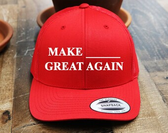 More colours. Custom MAGA Trucker Snapback Hat   Yupoong Mesh Snap Back   Embroidered  Mesh Cap   Your Custom Apparel   6-Panel   Bachelorette Party Hats 9c1c45862c32