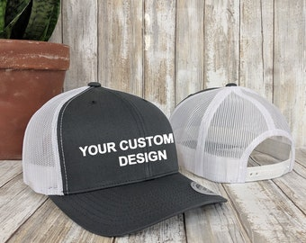 Custom Trucker Snapback Hat   Yupoong Retro Trucker Cap   Personalized Snap  Back   Embroidered Mesh Cap   Your Custom Apparel   6 Panel Hat 960651bcde18