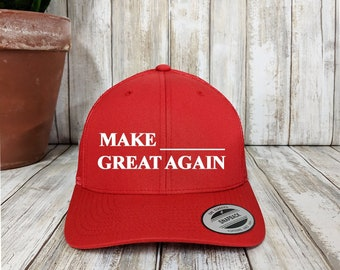 45e95f679d94e Custom MAGA Trucker Snapback   Yupoong Retro Trucker Hat   Personalized  Snap Back   Your Custom Apparel   6-Panel Mesh Cap   Political Hats