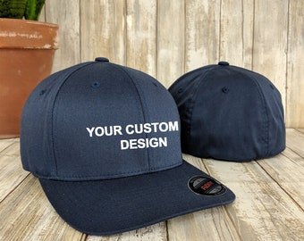 Custom Flexfit Hat   Flex Fit Wooly 6-Panel Cap   Personalized Embroidery    Your Custom Apparel   Flexfit Baseball Caps   Embroidered Hats f233cadc30f0