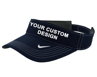 76111188f2b Nike Dri-FIT Swoosh Visor   Nike Sun Hat   Embroidered Visor Cap   Custom  Embroidery   Your Custom Apparel   Baseball Caps   Dri-FIT Sun Hat