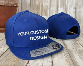 Custom Premium Snapback Cap / Yupoong 110 Snap Back / Embroidered Hat / Custom Embroidery / Your Custom Apparel / Baseball Caps