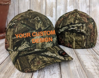 Custom Camo Flexfit / Flex Fit Wooly 6-Panel Hat / Camouflage Flex Fit / Personalized Embroidery / Flexfit Hunting Hats / Baseball Caps
