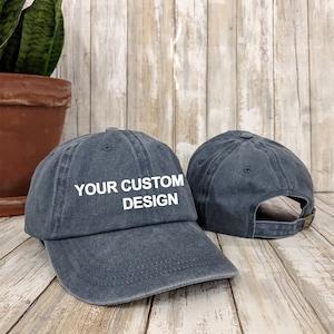 Personalised Embroidered Baseball Cap Teamwear Custom Printed Hat Mens Ladies