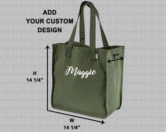 9d14214b8 Custom Market Tote / Certified Organic Hemp Cotton Blend / Reusable  Shopping Bags / Canvas Beach Bag / Embroidered Totes / Custom Embroidery