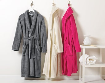 64aaa0d504 Personalized Plush Shawl Collar Robe   Micro Fleece Spa Robes   Bridesmaid  Gift   Custom Embroidery   Christmas Gifts   Bath Robe   Wedding