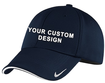 6de3c1ac96dee Nike Dri-FIT Mesh Swoosh Flex Sandwich Cap   Embroidered Hat   Custom  Baseball Hat   Performance Dri-FIT   Your Custom Apparel   Golf Hats