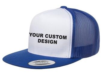 7c270369b98 Custom Classic Trucker Snapback   Yupoong Mesh Snap Back   Personalized Trucker  Hat   Bachelor Party Hats   Your Custom Apparel  Trucker Cap