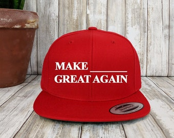 Custom MAGA Snapback Hat   Classic 6 Panel Snap Back   Personalized  Embroidery   Your Custom Apparel  Political Party Hats  Customized Gifts 1160350478a4