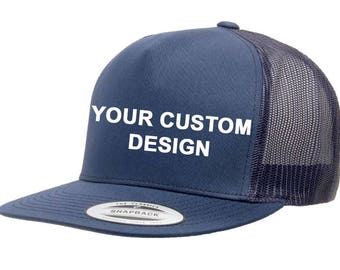 c28cd5baf5739 Custom 5 Panel Trucker Snapback   Yupoong Mesh Snap Back   Bachelorette  Party Hats   Your Custom Apparel   Trucker Cap   Structured 5-Panel