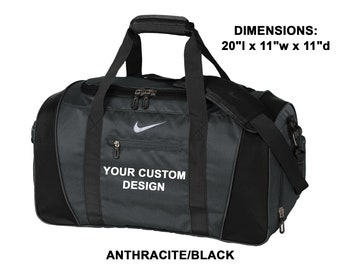 45a1097a93 Personalized Nike Medium Duffel   Custom Gym Bag   Monogrammed Sport  Duffels   Travel Bags   Customized Embroidery   Holiday Christmas Gifts