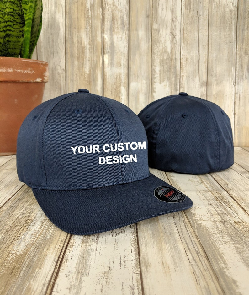 9927e1e42b92b Custom Flexfit Hat / Flex Fit Wooly 6-Panel Cap / Personalized Embroidery /  Your Custom Apparel / Flexfit Baseball Caps / Embroidered Hats