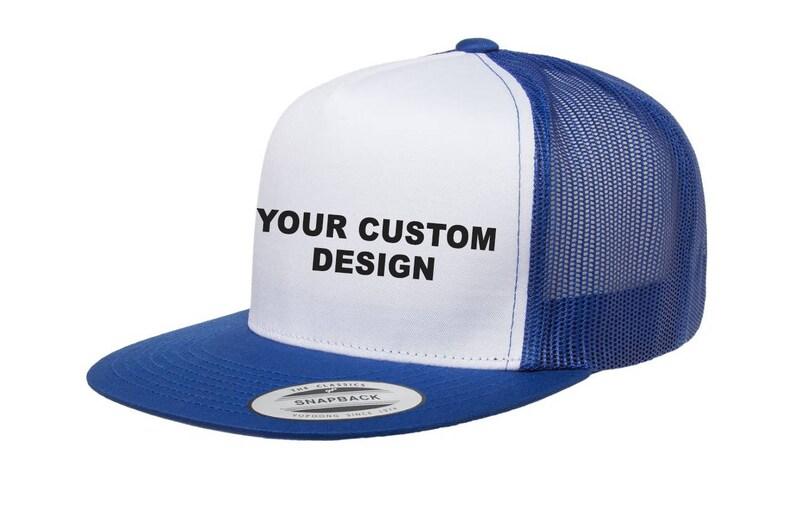 dec0cb7f0 Custom Classic Trucker Snapback / Yupoong Mesh Snap Back / Personalized  Trucker Hat / Bachelor Party Hats / Your Custom Apparel /Trucker Cap