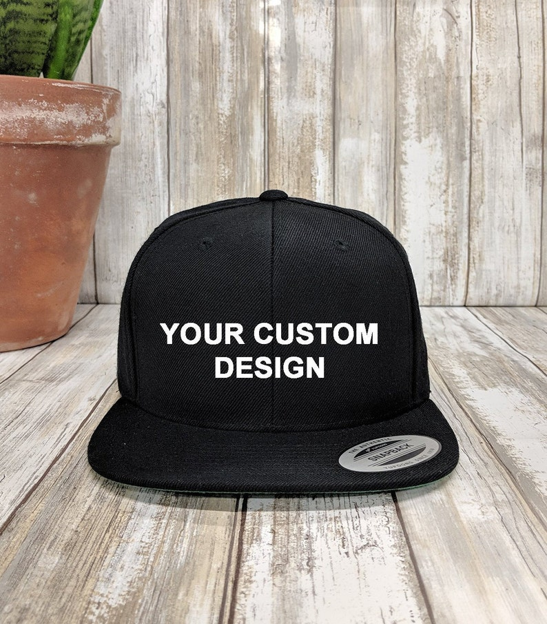 Custom Snapback Hat   Yupoong Classic Snap Back   Personalized ... 6e4b29c7498f