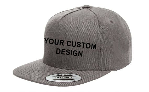 Custom 5 Panel Snapback Cap   Yupoong Classic Snap Backs    55231ca5ef37