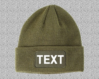 Patch Beanie / Customized Beanie / Winter Apparel / Embroidered Cap / Personalized Embroidery / Your Custom Apparel / Christmas Gifts