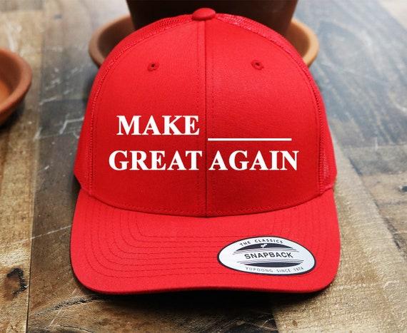 98bb15fceb0c2 Custom MAGA Trucker Snapback Hat   Yupoong Mesh Snap Back