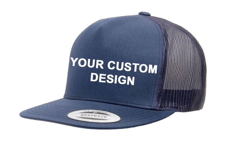 3c2158925cf Custom 5 Panel Trucker Snapback   Yupoong Mesh Snap Back