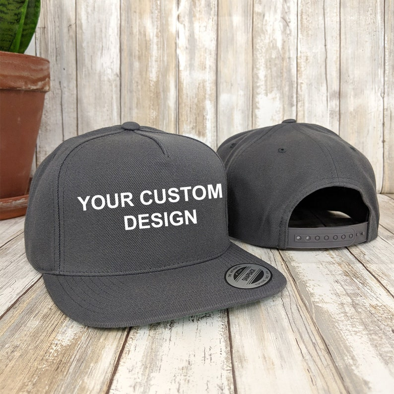 0fa597e2a Custom 5 Panel Snapback Cap / Yupoong Classic Snap Back / Embroidered Hat /  Custom Embroidery / Your Custom Apparel / Structured 5-Panel