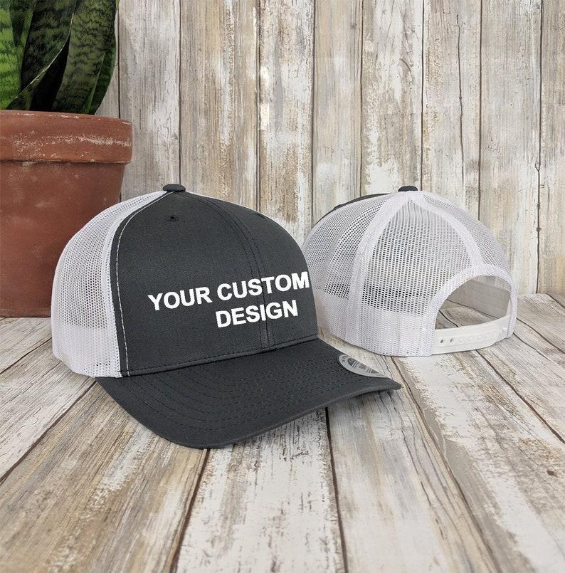Custom Trucker Snapback Hat   Yupoong Retro Trucker Cap    d74b9f99f5c3