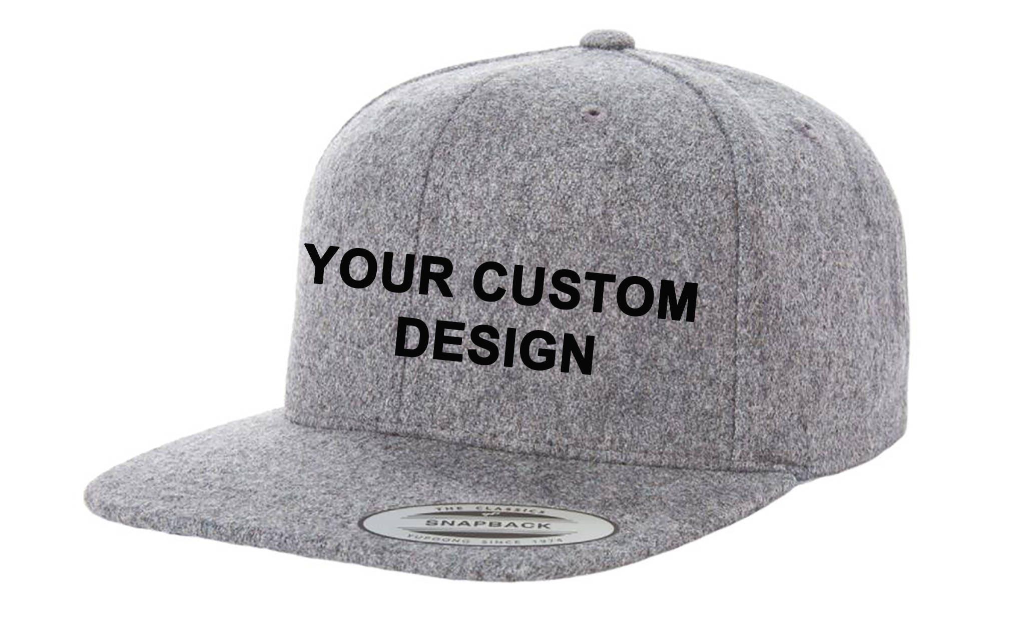 Custom Melton Wool Snapback   Yupoong Classic Snap Back    fc3166c40a98