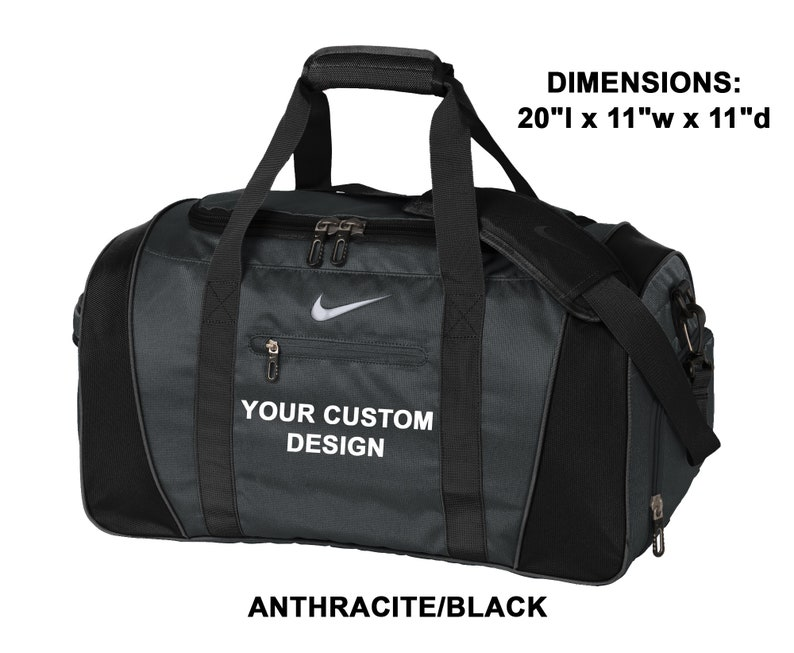 sports shoes bc508 80803 Personalized Nike Medium Duffel   Custom Gym Bag   Monogrammed   Etsy