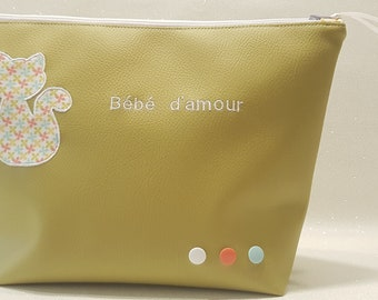 baby toiletry kit, personalized gift, personalized kit, birth gift, customizable, first name