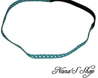 Lagoon blue lace headband