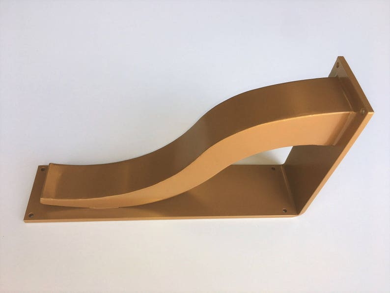 Brass Countertop Support Brackets Golden Architectural Etsy