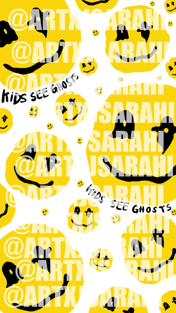 Kids See Ghost Smiley Face Iphone Wallpaper