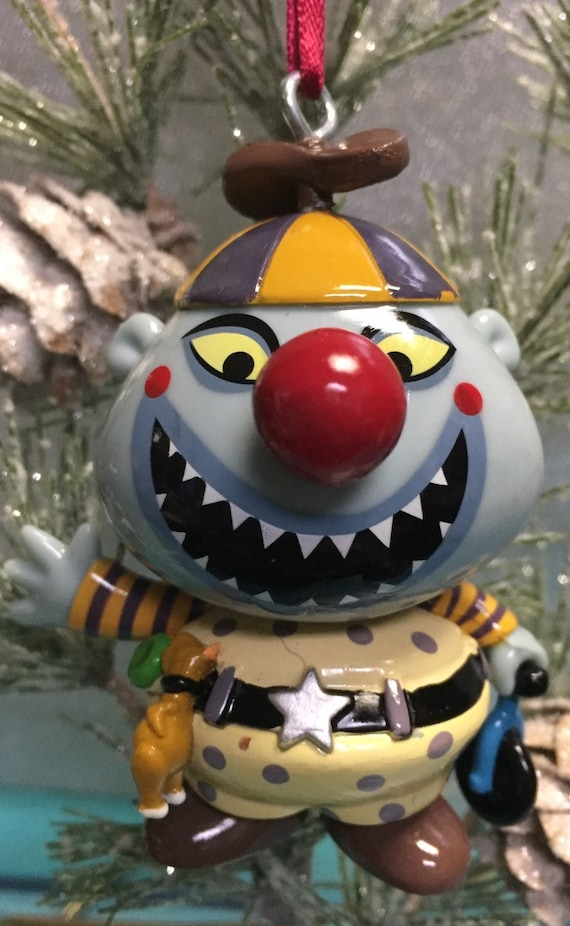 Nightmare Before Christmas Clown With A Tear Away Face.Custom Clown Tear Away Face Nightmare Before Christmas 3 Holiday Ornament Twisted Ones Ooak Upcycled Halloween