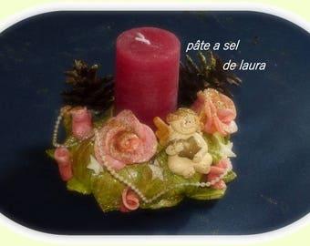 laura salt dough a nice candle holder