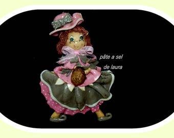 Salt dough doll romantic laura salt dough