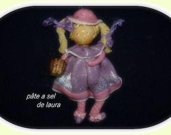romantic doll in salt dough