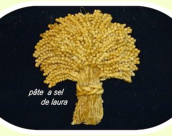 an ear of wheat in laura salt dough