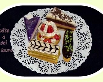 5 cakes in salt dough