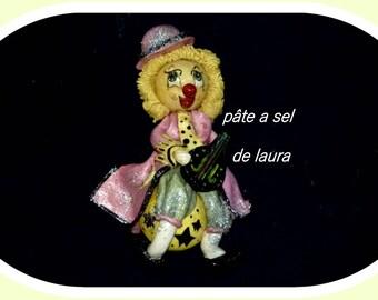 laura salt dough a clown