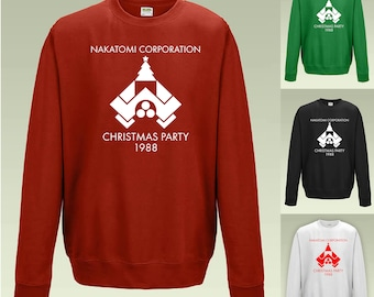 nakatomi corporation christmas party sweatshirt jh030 funny xmas jumper sweater