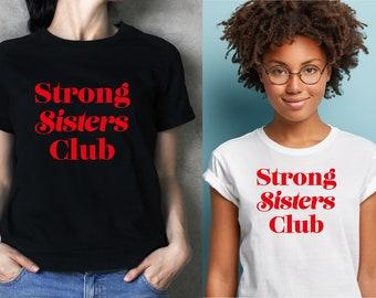 Brace strong girl tshirt market bag