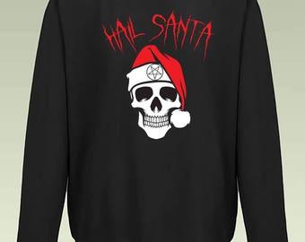 MERRY KISS MY ASS Christmas Jumper Sweatshirt JH030 Sweater Rude Xmas Biker Gift