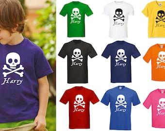 c6b39591 Kids Personalised Pirate T-Shirt - Any Name Children's Birthday Christmas  Pirates
