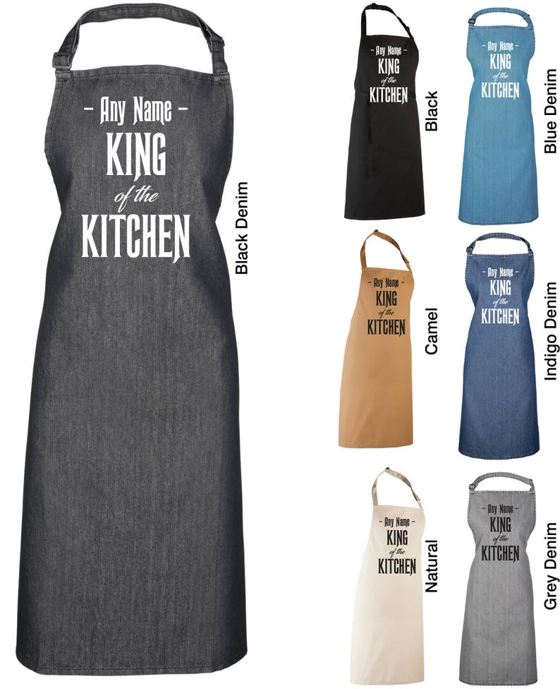 361af2c9b7f59 King of the Kitchen Apron Personalised with Any Name Baking