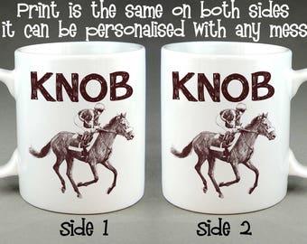 Knob Jockey Mug - Birthday Gift Personalised