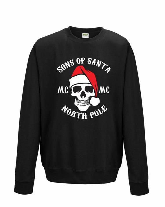 Sons of Santa Hoodies North Pole Chapter Father Son Dad Santa Father Birthday Funny Joke Christmas Jumper Xmas Gift Men Sweatshirt Top S-2XL