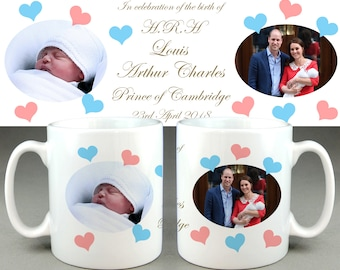 HRH Prince Louis Arthur Charles #2 - Royal Baby Mug Cup - William Kate Di