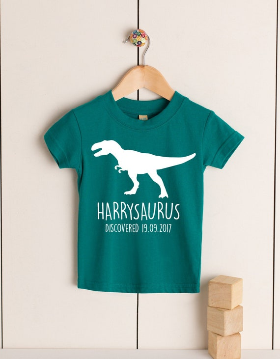BIRTHDAY T-REX PERSONALISED BABIES//TODDLERS DINOSAUR T-SHIRT ANY NAME