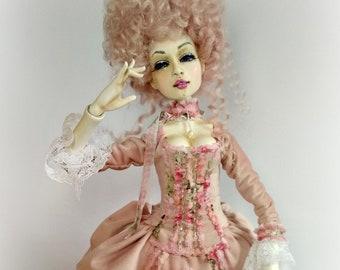 sold. Ksantia artist doll, collectible doll, OOAK art doll, rug doll artist, rag doll, rug doll ooak doll