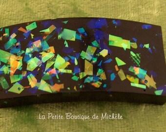 Black resin and confetti Ist Dichro plate