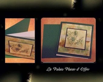 """Green double card """"The heart of Christmas"""""""