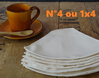 Organic coffee filter, washable and reusable, organic cotton, zero waste, fabric filter, compostable